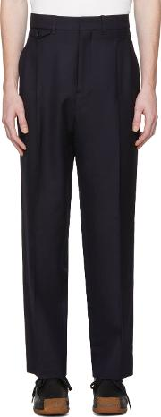 Lemaire , Lemaire Navy Two Pleat Trousers