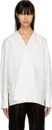 Lemaire , Lemaire White Wrapover Shirt