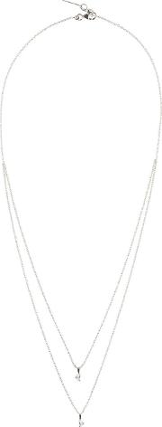 Maison Margiela Fine Jewellery , White Gold Crescent Diamond Solitaire Bisected Necklace