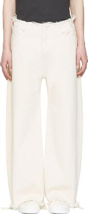 Marques Almeida , Off White Oversized Jeans