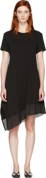 Nocturne 22 , Black Asymmetric T Shirt Dress