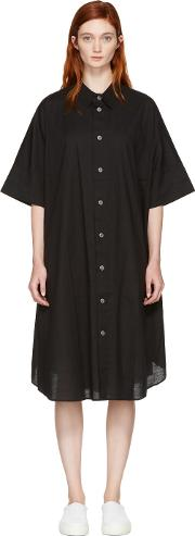 Nocturne 22 , Black Circle Shirt Dress