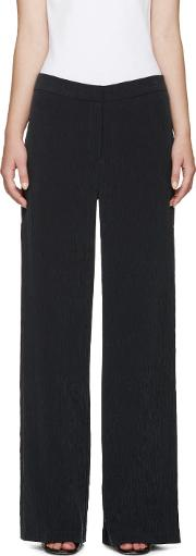 Nomia , Black Crinkle Vented Trousers
