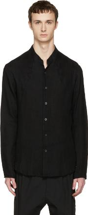 Nudemm , Nude Mm Black Button Down Shirt
