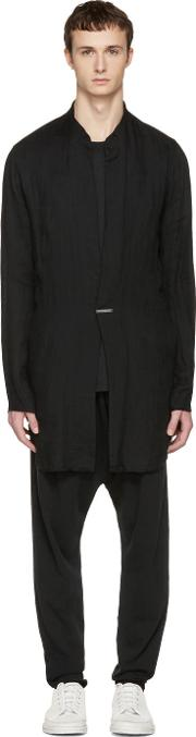 Nudemm , Nude Mm Black Long Shirt Jacket