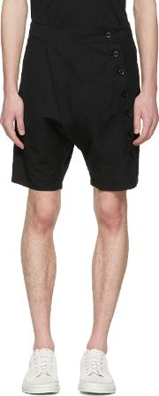 Nudemm , Nude Mm Black Side Button Shorts