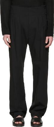 Nudemm , Nude Mm Black Side Button Trousers