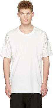 Nudemm , Nude Mm Off White Basic T Shirt