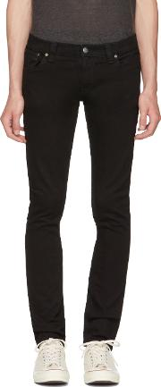 Nudie Jeans , Black Long John Jeans