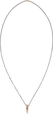 Pearls Before Swine , Gold Triple Thorn Necklace