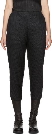 Pleats Please Issey Miyake , Black Thicker Bounce Trousers