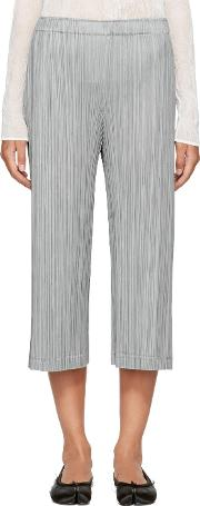 Pleats Please Issey Miyake , Grey Pleated Trousers