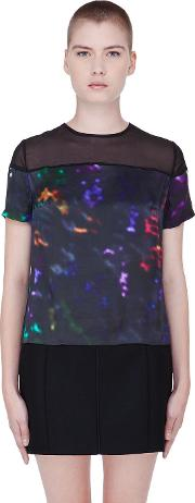 Preen Line , Multicolor Silk Abstract Laxt T Shirt