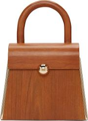 Prim By Michelle Elie , Brown Wood Aturo Bag