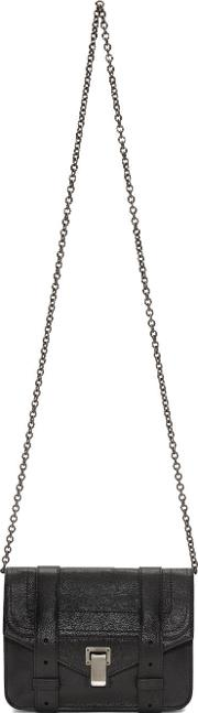 Proenza Schouler , Black Ps1 Chain Wallet Bag