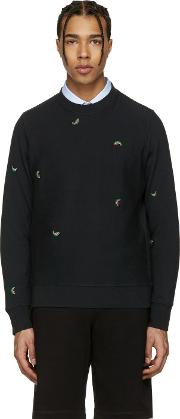 Ps By Paul Smith , Black Watermelon Pullover