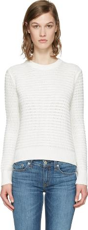 Rag And Bone , White Knit Open Back Sweater