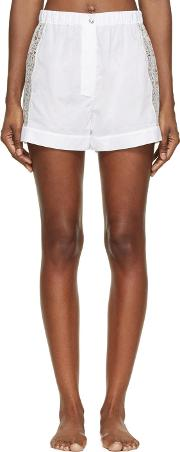 Raphaella Riboud , White Cotton And Lace Fred Shorts