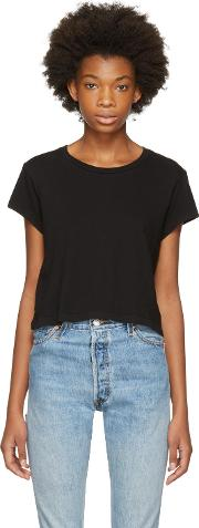 Redone , Re Done Black 1950s Boxy T Shirt