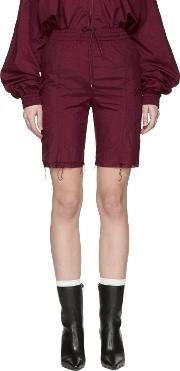 Reebok , Burgundy  Edition Track Shorts