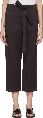 Sara Lanzi , Black Satin Trousers