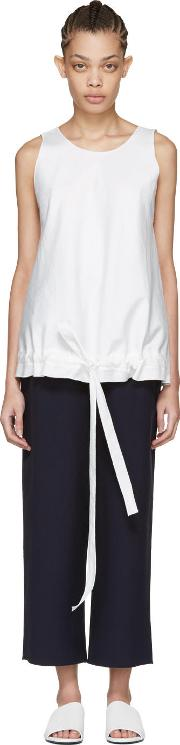 Sara Lanzi , Off White Drawstring Top