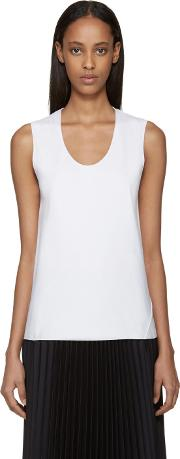 Sara Lanzi , White Bias Cut Tank Top