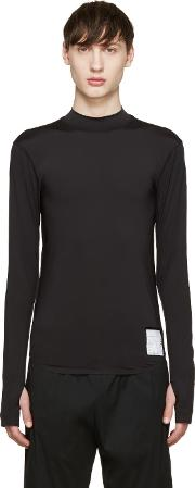 Satisfy , Black Long Compression T Shirt