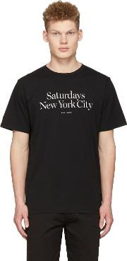 Saturdays Nyc , Black Miller Standard T Shirt