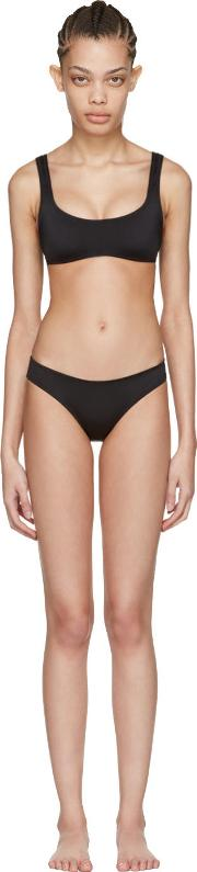 Solid And Striped , Black The Elle Bikini