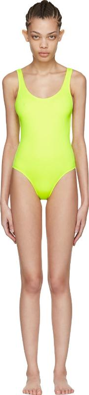 Solid And Striped , Yellow The Anne Marie Swimsuit