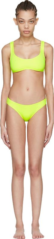 Solid And Striped , Yellow The Elle Bikini