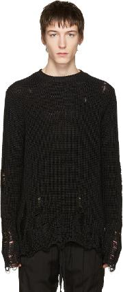Song For The Mute , Black Oversized Beau Sweater