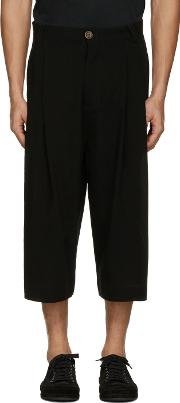 Song For The Mute , Black Wool Bucket Trousers