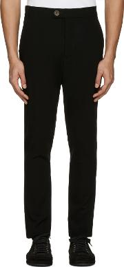 Song For The Mute , Black Wool Tailored Trousers