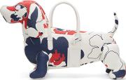 Thom Browne , Tricolor Floral Outline Hector Tote