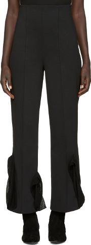 Toga , Black Bonded Jersey Trousers