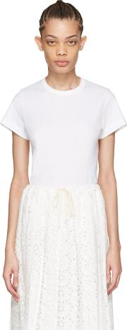 Tricot Comme Des Garcons , White Cotton T Shirt