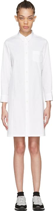 Tricot Comme Des Garcons , White Poplin Shirt Dress