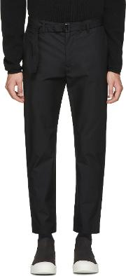 Undecorated Man , Black Slim Trousers