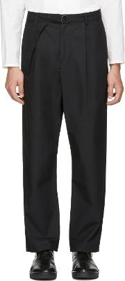 Undecorated Man , Black Wide Straight Trousers