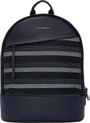 Want Les Essentiels , Navy Canvas Kastrup Backpack