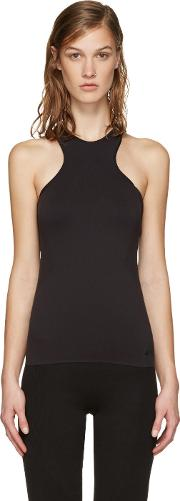 Y3 Sport , Y 3 Sport Black Fine Knit Tank Top