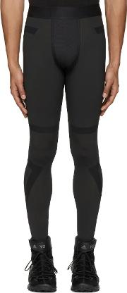 Y3 Sport , Y 3 Sport Black Techfit Long Tights