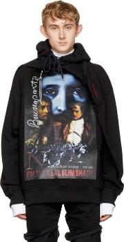 Yproject , Y Project Black Deconstructed Slim Shady Hoodie