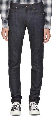 Naked And Famous Denim , Blue Cashmere Super Skinny Guy Jeans