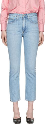 Brock Collection , Blue Wright Jeans