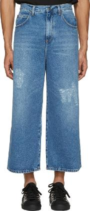 Jw Anderson , J.w. Anderson Blue Loose Fit Jeans