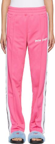 Palm Angels , Palm Angels Pink Contrast Tape Track Pants