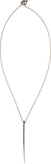 Pearls Before Swine , Silver Long Thorn Necklace